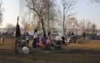 Vatandaşlar güneşli havanın tadını çıkardı