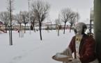 Mogan'da kar manzaraları