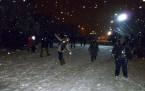 Başkent'te kar