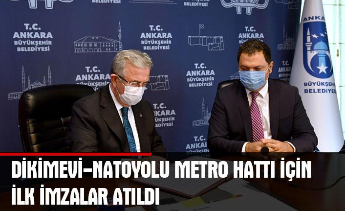 Mansur yavaş düğmeye bastı: dikimevi-natoyolu metro hattı için ilk imzalar atıldı