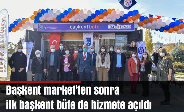 Başkent market'ten sonra ilk başkent büfe de hizmete açıldı