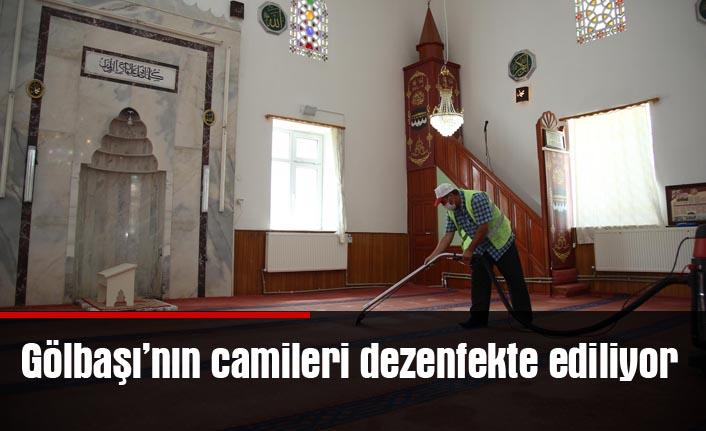 Gölbaşı'nda camiler dezenfekte ediliyor