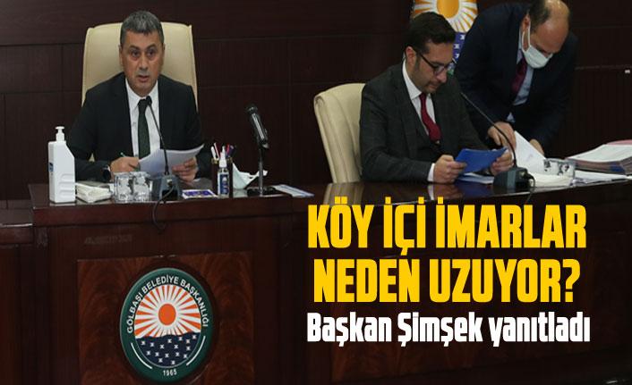 Başkan Şimşek'ten  imar açıklaması