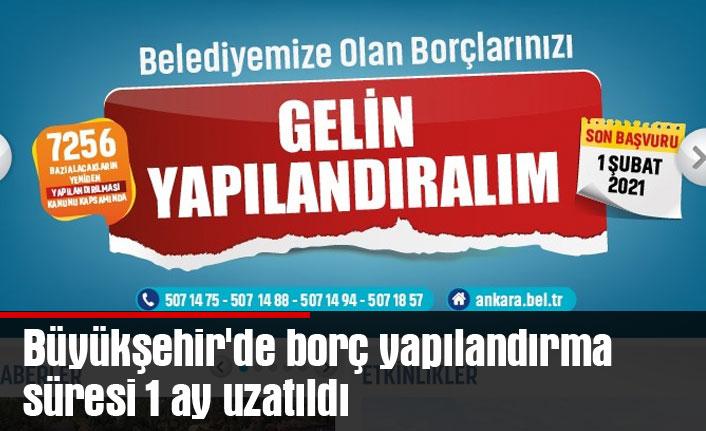 Büyükşehir'de borç yapılandırma süresi 1 ay uzatıldı