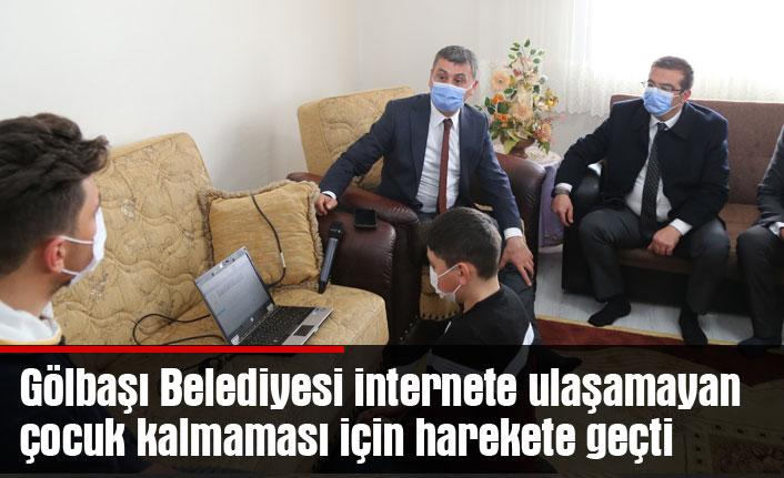 Gölbaşı Belediyesi internete ulaşamayan çocuk kalmaması için harekete geçti