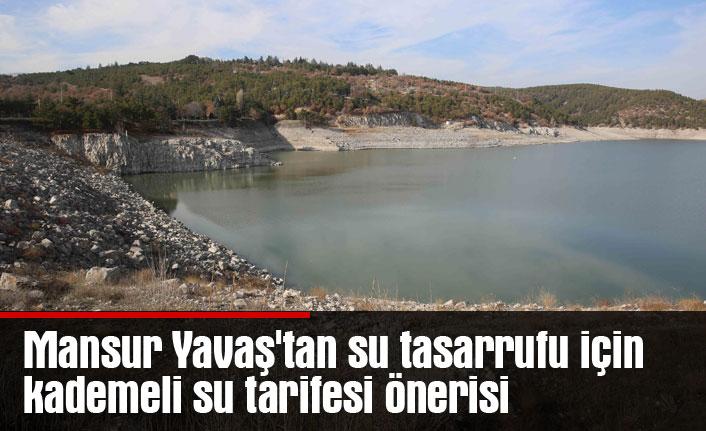 Mansur Yavaş'tan su tasarrufu için kademeli su tarifesi önerisi