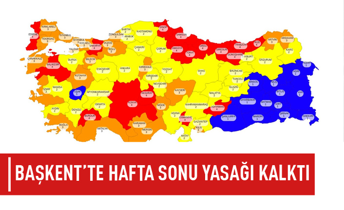Ankara'da uygulanan hafta sonu yasağı kaldırıldı