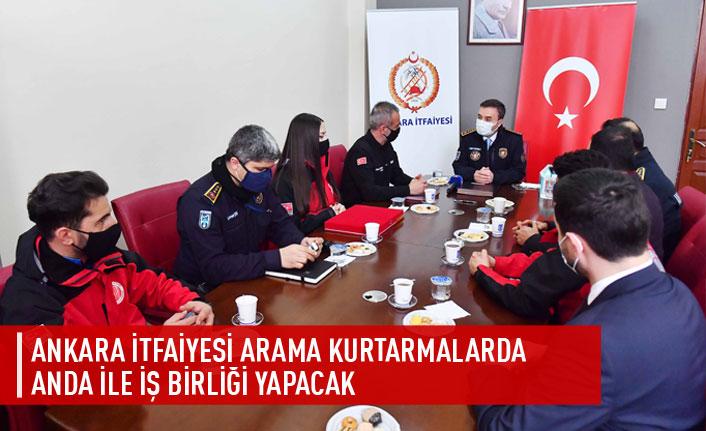 Ankara İtfaiyesi arama kurtarmalarda ANDA ile işbirliği yapacak