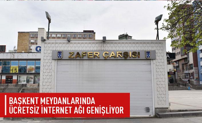 Başkent meydanlarına ücretsiz internet ağı genişliyor