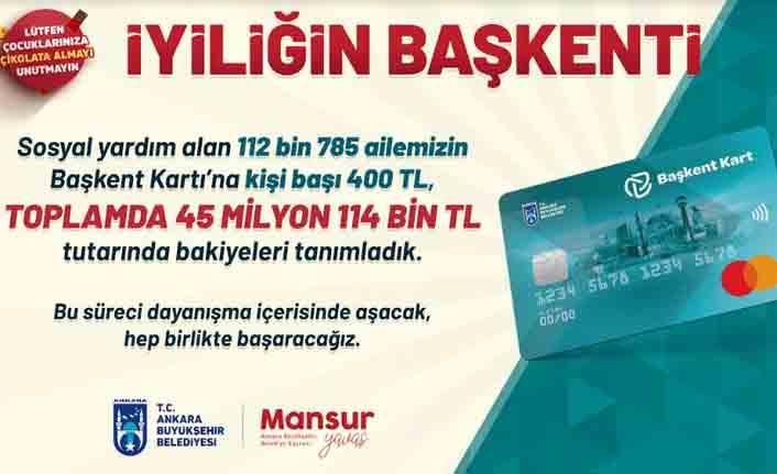 Mansur Yavaş'ın açıkladığı 100 milyon TL'lik destek paketi kapsamında ödemeler başladı