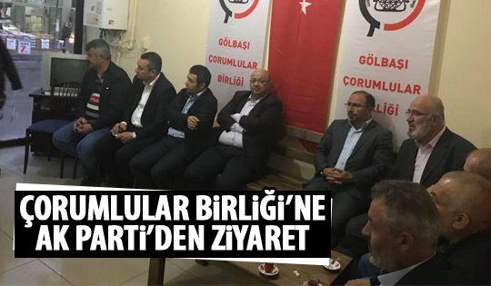 Ak Parti'den Çorumlular Birliği'ne Ziyaret