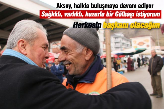 """Aksoy, """"Herkesin belediye başkanı olacağım"""""""