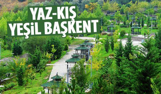 Ankara yeşil kente dönüştü