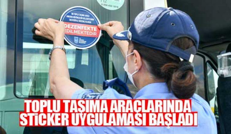 Ankara zabıtası toplu taşıma araçlarında sticker uygulaması başlattı