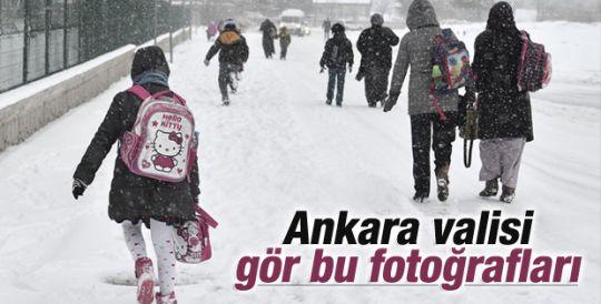 Ankara'da kar var tatil yok
