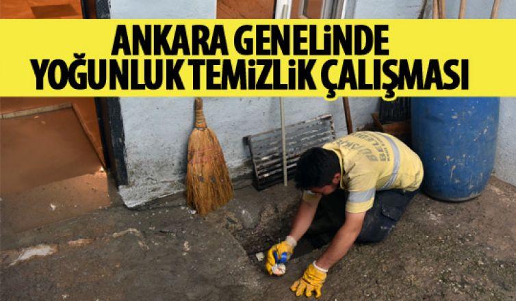 Ankara'da yoğun temizlik çalışması!