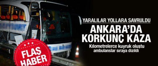 Ankara'da Zincirleme Kaza