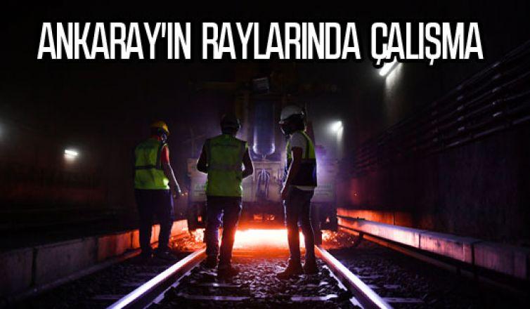 Ankaray'ın raylarında güvenlik ve konfor çalışması