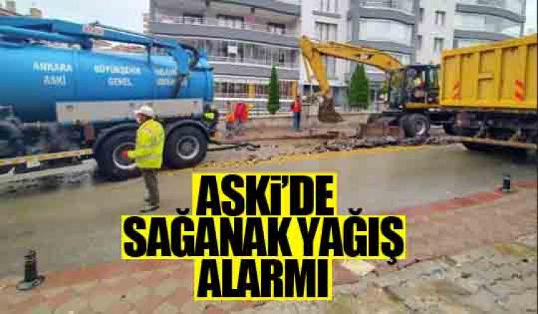 ASKİ'de sağanak yağış alarmı