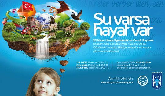 ASKİ'den 23 Nisan'a özel yarışma