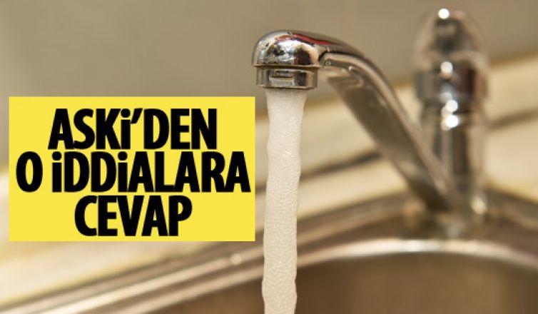 ASKİ'den şebeke suyuna yönelik iddialara cevap