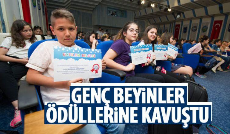 ASKİ'nin yarışmasına katılan çocuklar ödüllerini aldılar