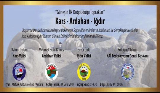 Atatürk Kültür Merkezi'nde Kars Ardahan Iğdır Rüzgârı