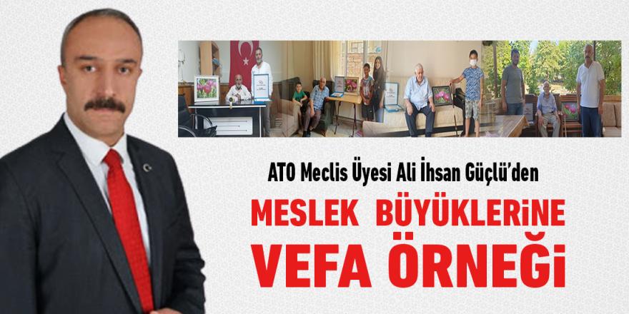 ATO Meclis Üyesi Ali İhsan Güçlü:
