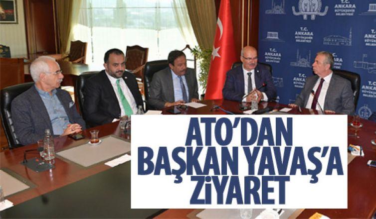 ATO'dan Başkan Yavaş'a ziyaret