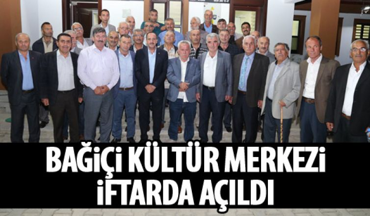 Bağiçi Kültür Merkezi açıldı