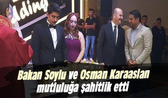Bakan Soylu ve Karaaslan nikah şahidi oldu