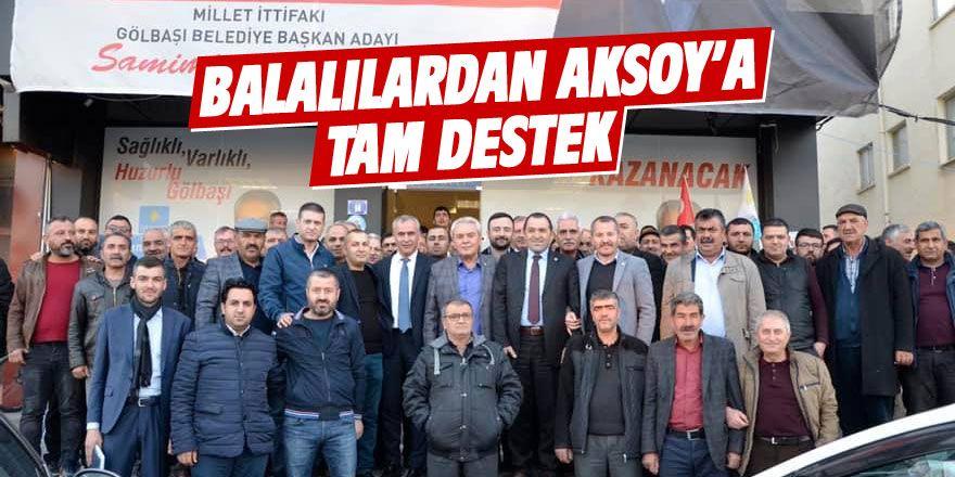 Balalılardan Mahmut Aksoy'a tam destek