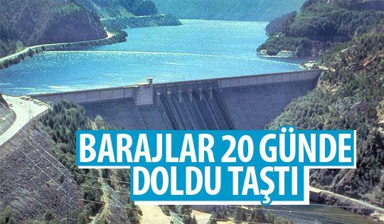 Barajlara 20 günde rekor su geldi