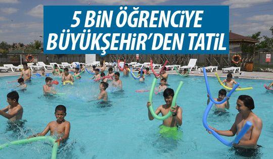 Başarılı öğrencilerin tatili Büyükşehir'den