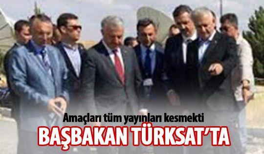 Başbakan Yıldırım, TÜRKSAT'ı ziyaret etti
