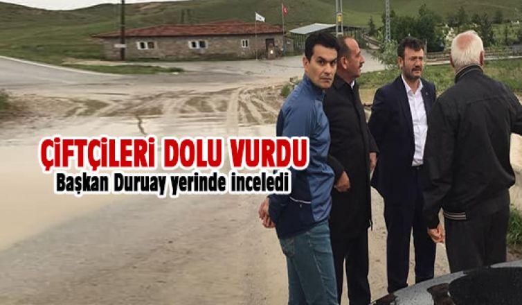 Başkan Duruay dolunun verdiği zararı yerinde inceledi