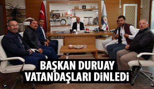 Başkan Duruay halkla buluştu