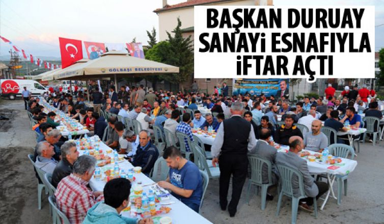 Başkan Duruay sanayide iftar açtı