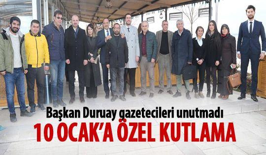 Başkan Duruay yerel gazetecilerle bir araya geldi