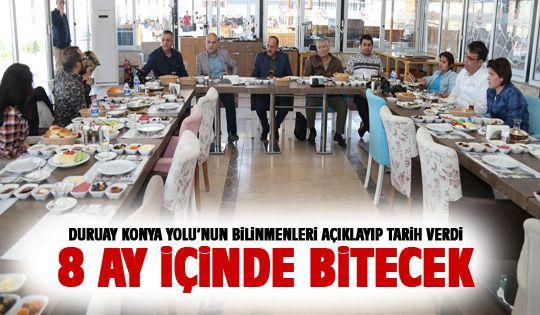 Başkan Duruay'dan önemli Konya Yolu açıklaması