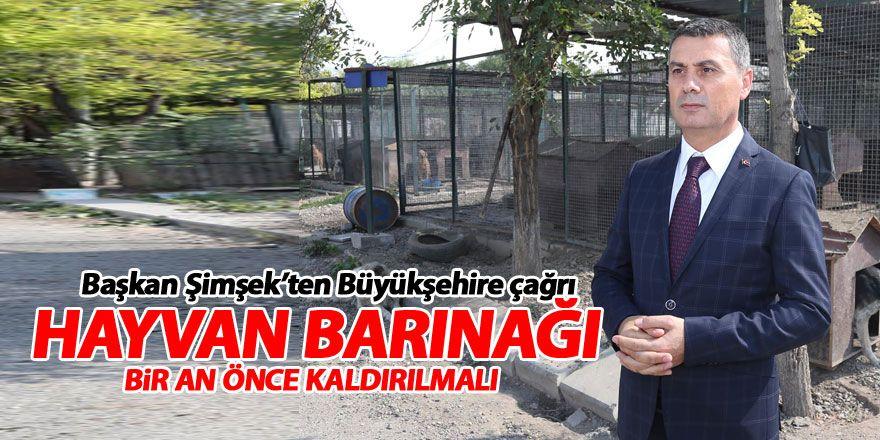 Başkan Şimşek: Hayvan barınağı bir an önce taşınmalı