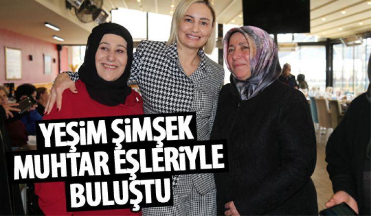 Başkan Şimşek'in eşi muhtar eşleriyle bir araya geldi