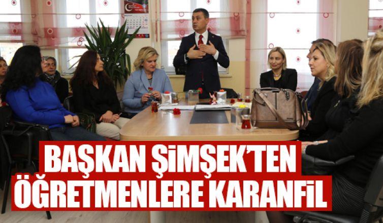 Başkan Şimşek'ten 3 bin 500 öğretmene karanfil!