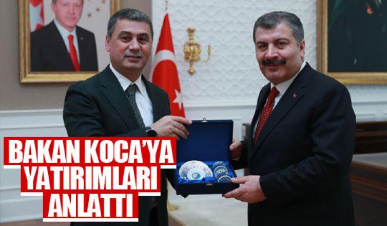 Başkan Şimşek'ten Bakan Koca'ya ziyaret!
