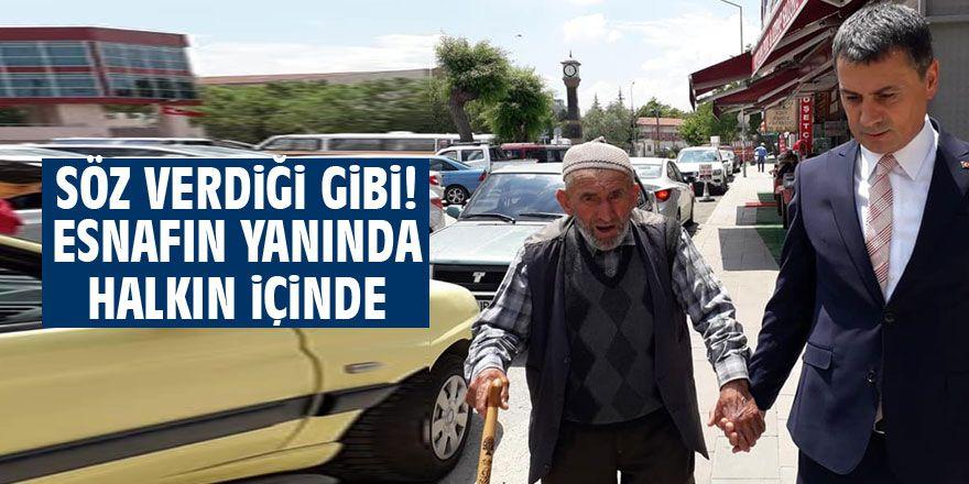Başkan Şimşek'ten esnaf ziyareti