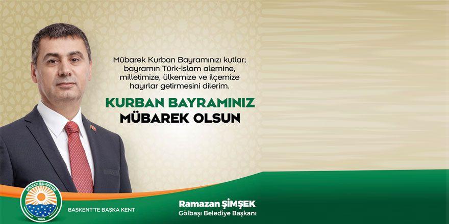 Başkan Şimşek'ten Kurban bayramı mesajı