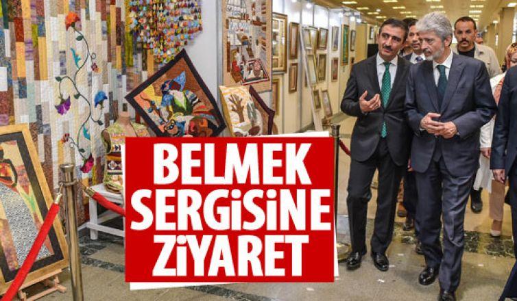 Başkan Tuna BELMEK sergisini gezdi