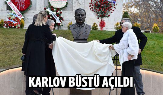 Başkan Tuna, Karlov büstünü açtı