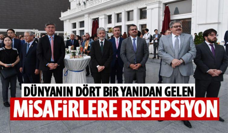 Başkan Tuna'dan misafirlere resepsiyon