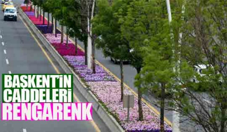 Başkent'in caddeleri rengarenk